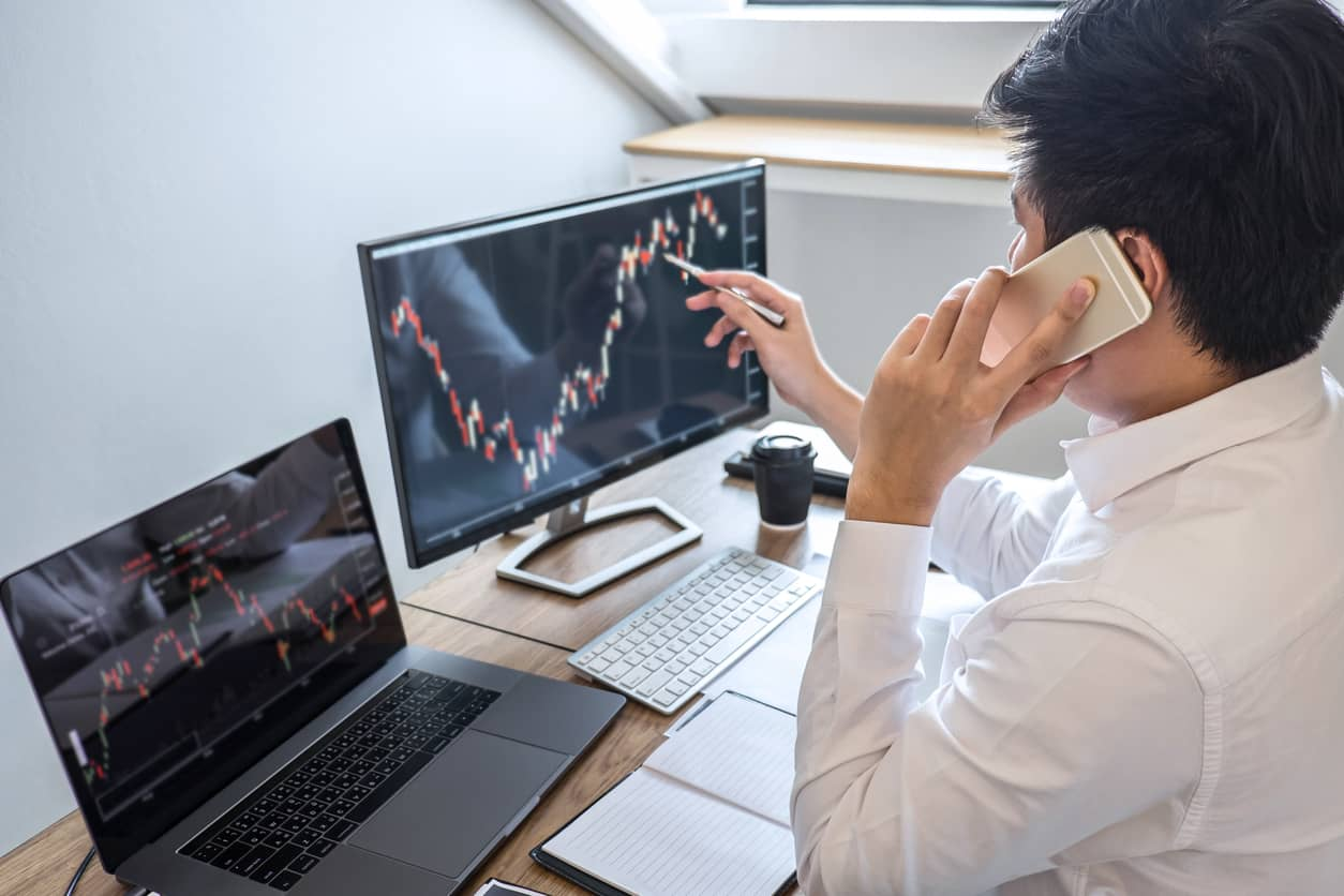 man working on a digital transformation strategy